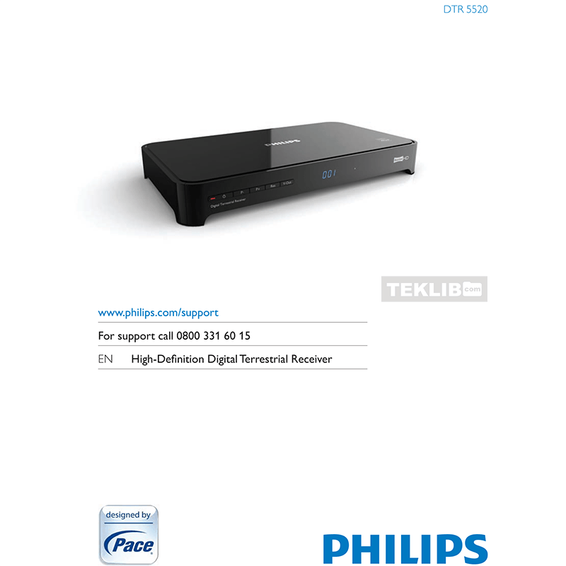 DTR-5520 Philips Freeview HD Digital Terrestrial Receiver User Manual