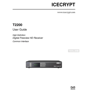 Icecrypt T2200 Freeview HD Receiver User Guide